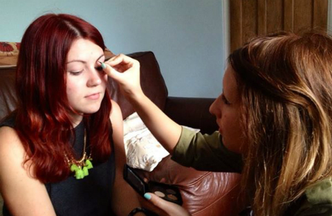 Sometimes getting my best friends to do my make up for me is the only way! Credit: Mia Holt